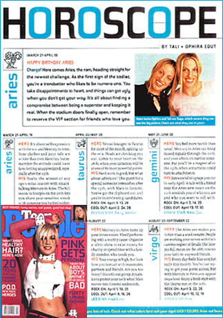 The AstroTwins began their horoscope career in Teen People Magazine