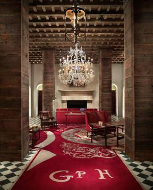 The beautiful Gramercy Park Hotel lobby in New York