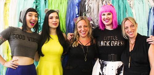 With our inspiring Blogcademy headmistresses Gala, Shauna & Kat
