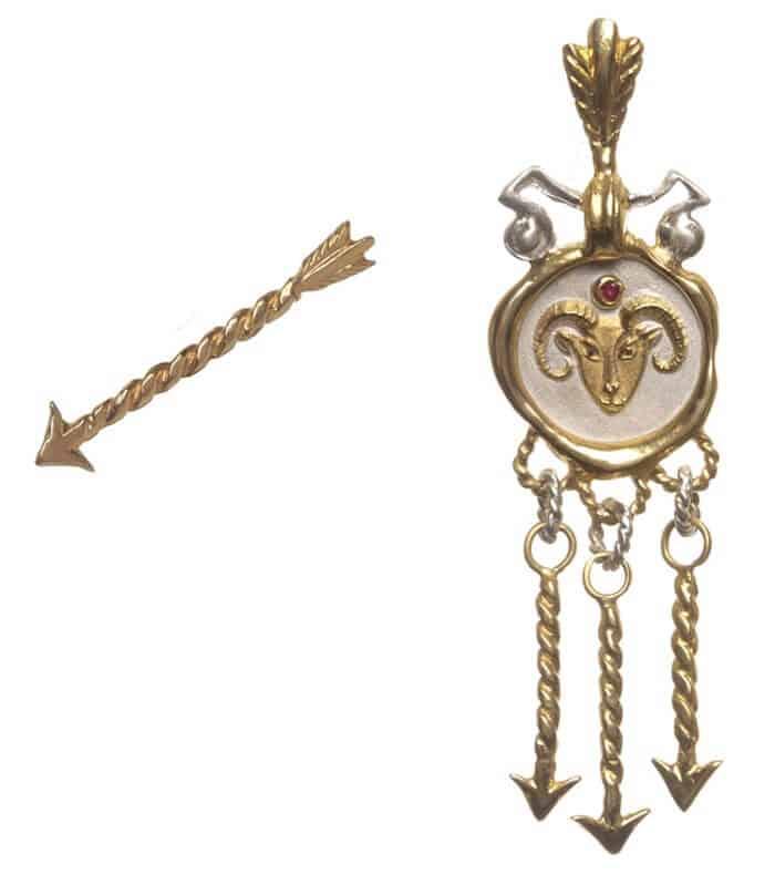 Single-Earring-With-Arrow-Stud-Zodiac-Aries