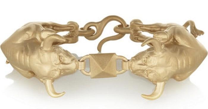 Valentino-Gold-Tone-Bracelet-Taurus