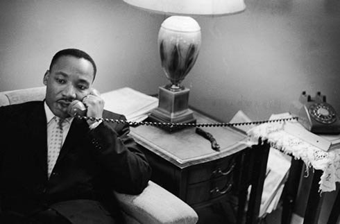 MLK-on-phone