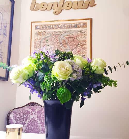 How I (Ophi) styled my Aquarius Horoscope Bouqet. Amazing eucalyptus & rose scent. Ahh!