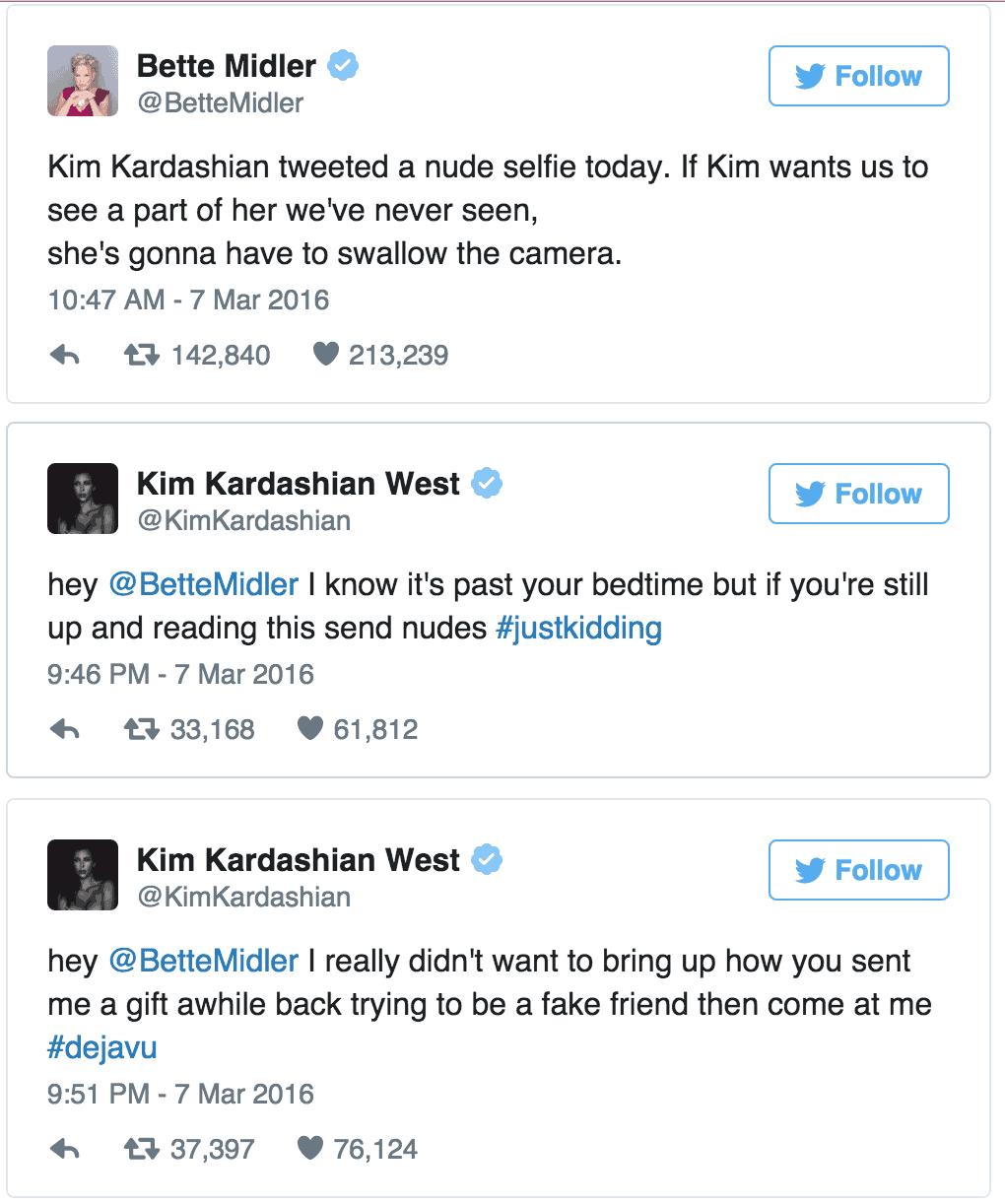 Bette Midler Kim Kardashian Twitter