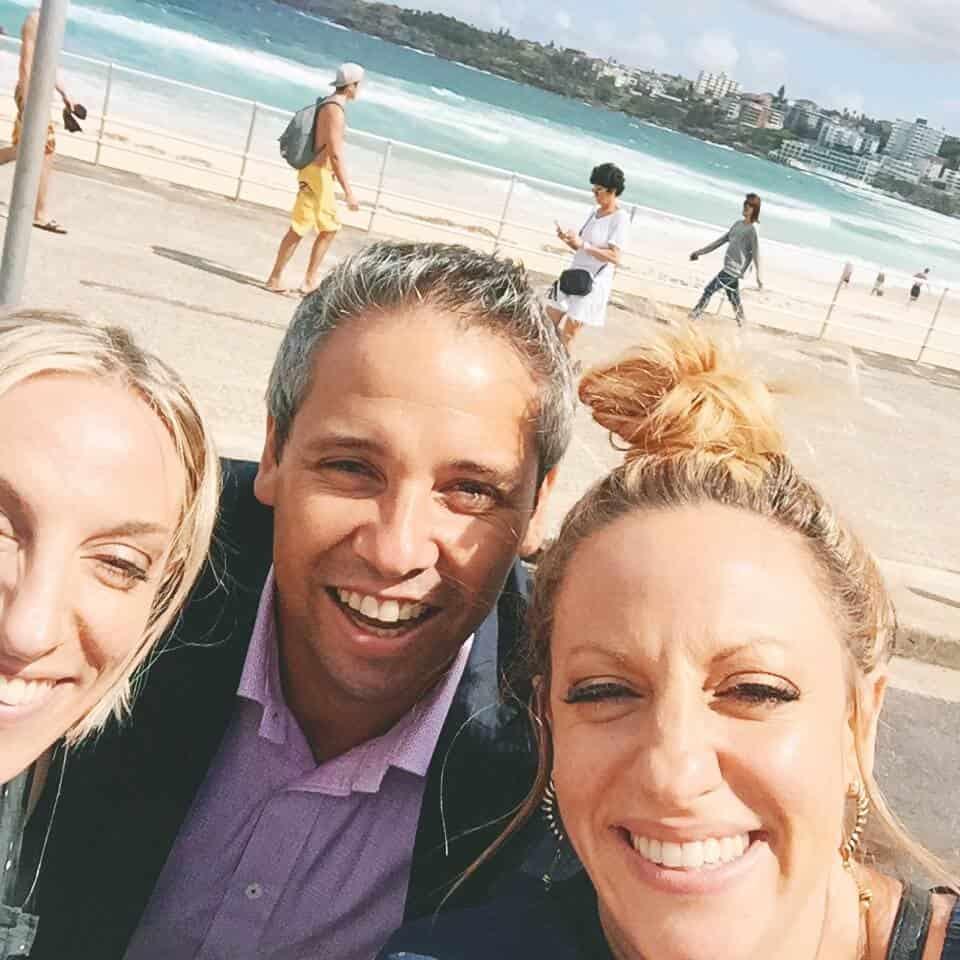 Our lovely Leo driver Tony at Bondi Beach!