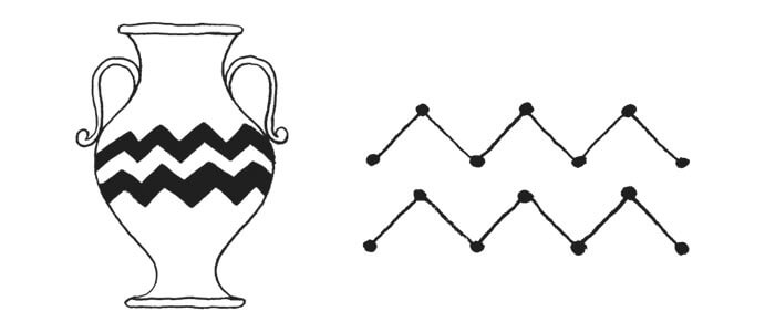Aquarius Symbol And Astrology Sign Glyph Astrostyle