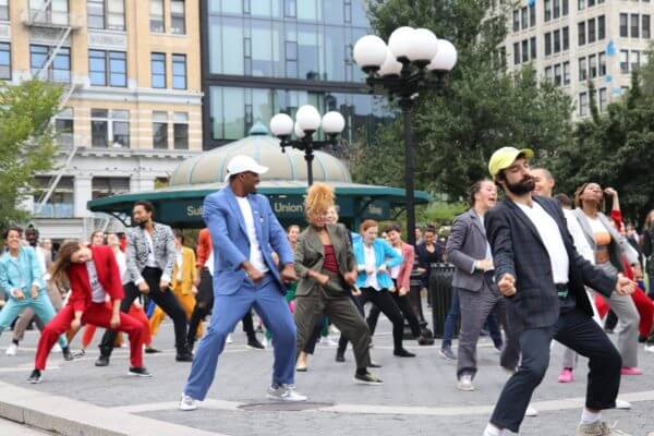 pantsuit power flash mob