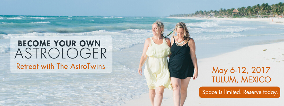 AstroTwins retreat in Tulum Mexico - learn astrology with us!