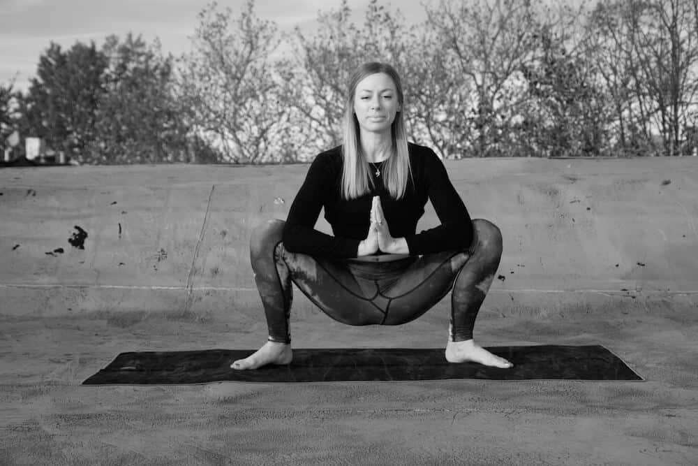 malasana squat scorpio yoga