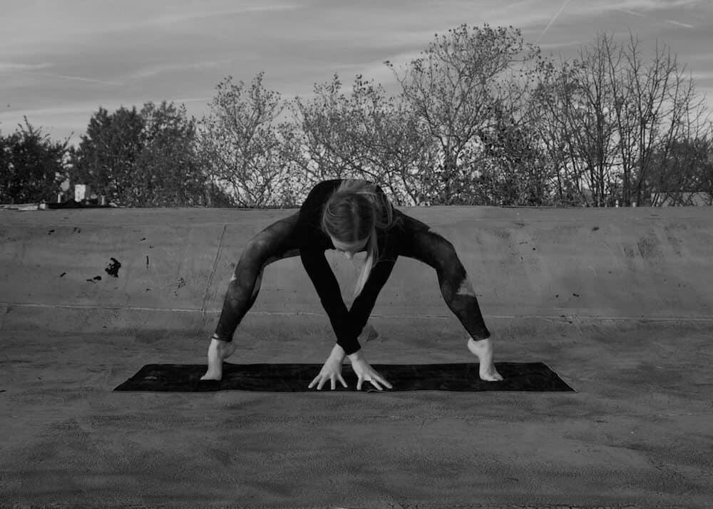 scorpionic spider pose scorpio yoga