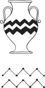 Aquarius Glyph and Symbol