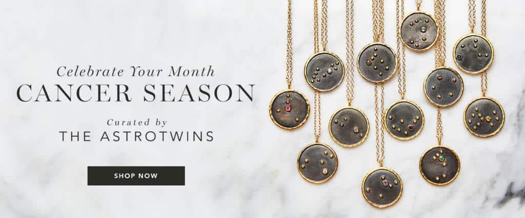 astrotwins x satya zodiac necklaces