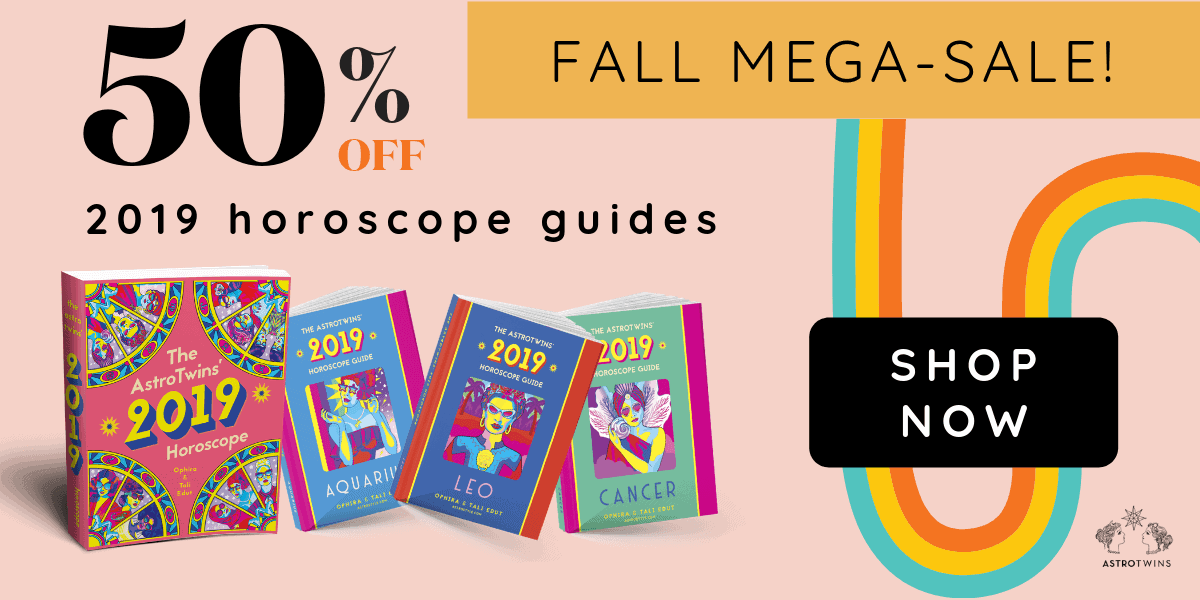 50% off fall sale 2019 horoscope guides by the astrotwins