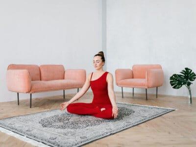 woman meditating during sagittarius zodiac season