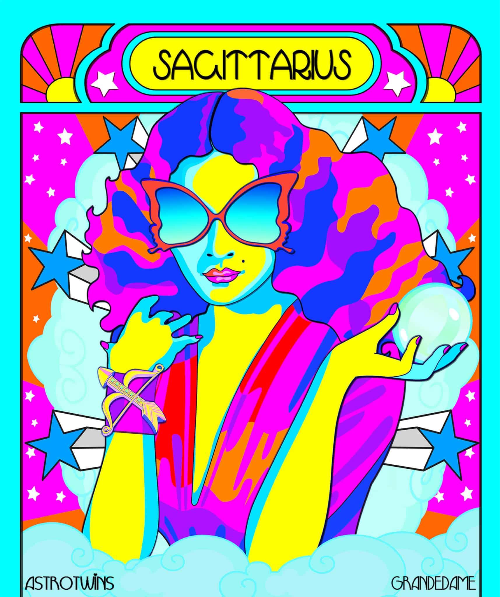 woman representing Sagittarius season 2020 in the zodiac of astrology