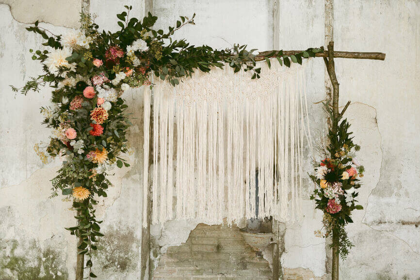 flower curtain representing the taurus full moon in November 2019 in astrology