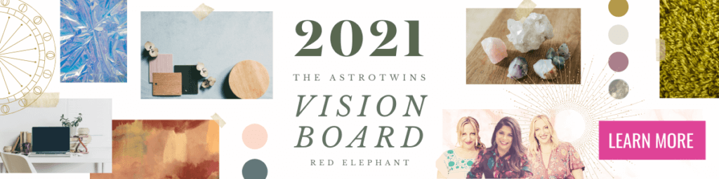 2021 vision board experience with the astrotwins